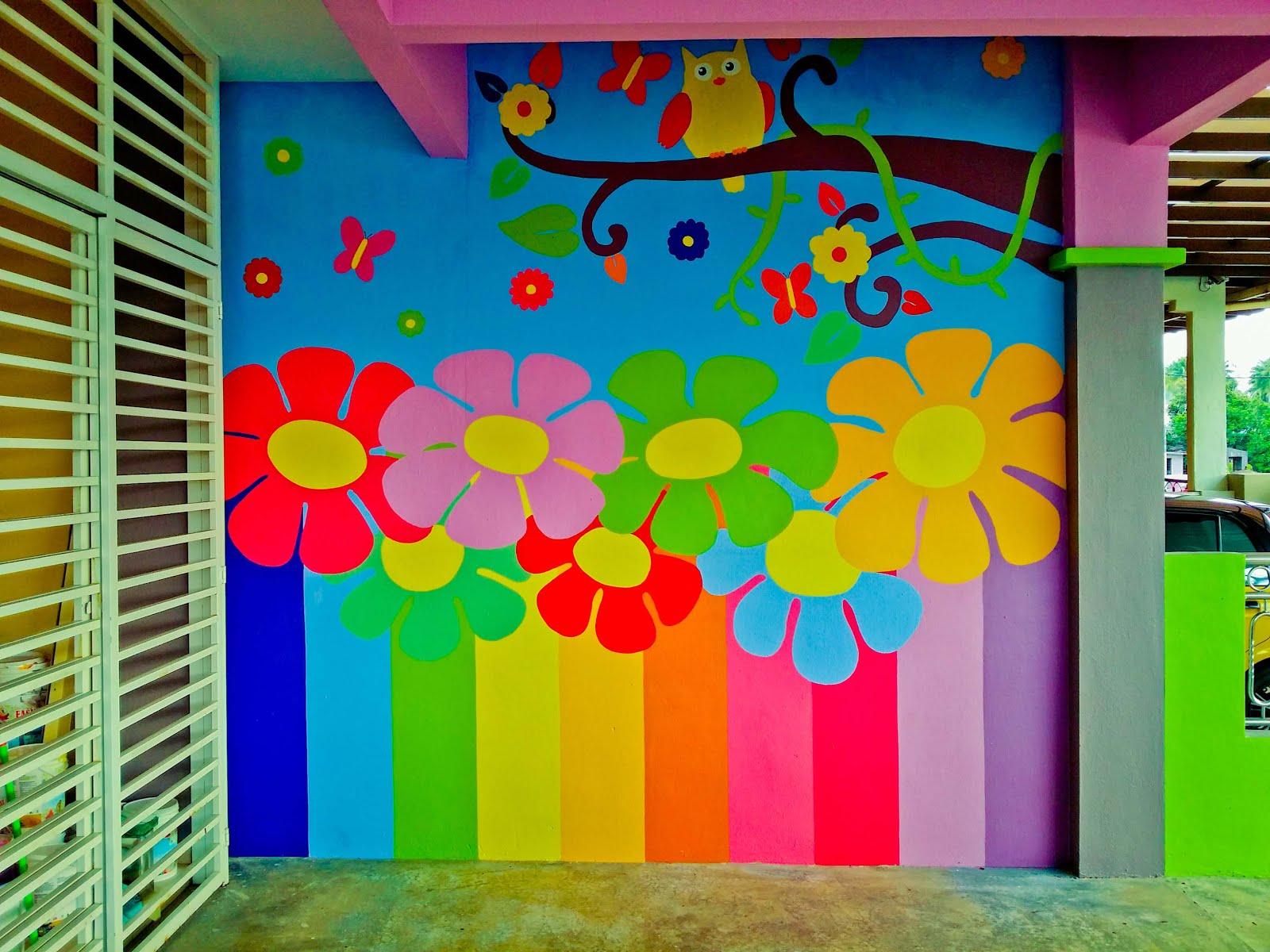 Lukisan Dinding Sekolah Tadika Cikimm Com