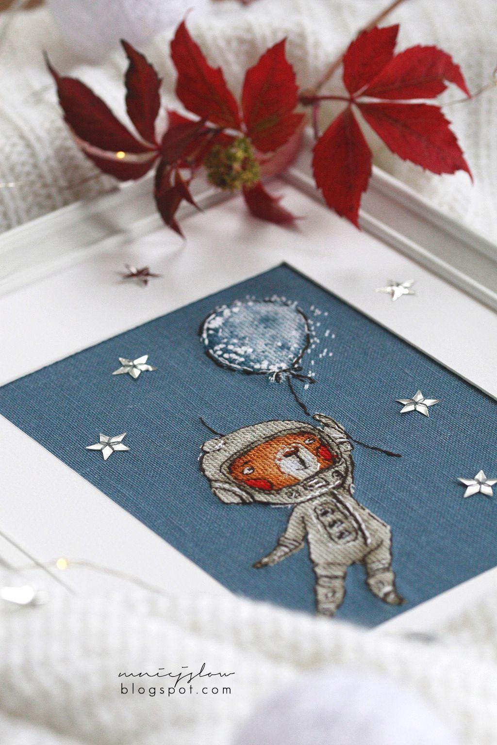 Ted cosmonaut -  sv_stitch ... with love (@svetlaja_maj)