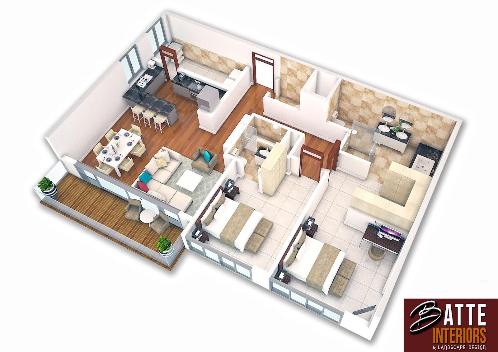 Interior Design Uganda 3d Furniture Layout Plans By Batte