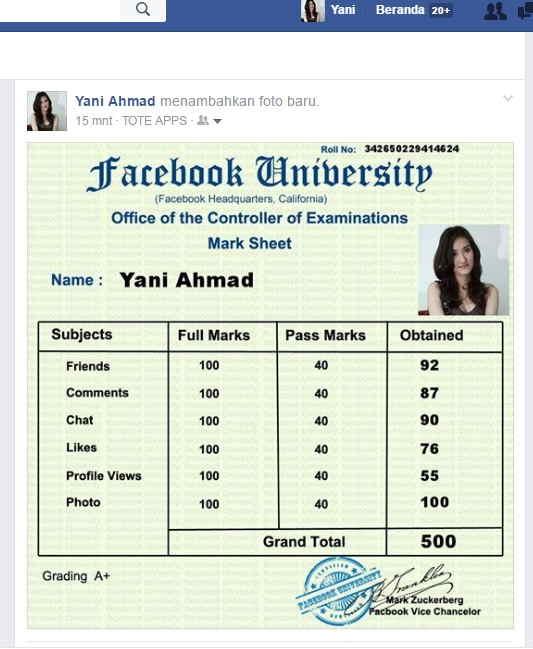 Cara Membuat Ijazah Facebook University