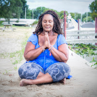 dianne bondy doing yoga ona beach