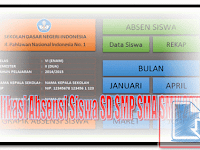 Download Aplikasi Absensi Siswa SD SMP SMA SMK 2017