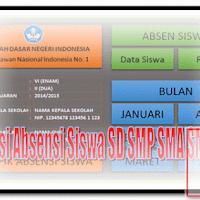 Aplikasi Absensi Siswa SD SMP SMA SMK 2017 Format Excel.Xlsx