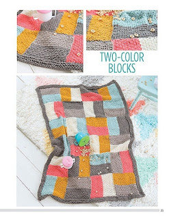 Knit Color Block Blankets
