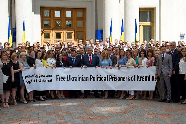 "Photo ""Free Ukrainian Political Prisoners of Kremlin"" ny Ministry of Foreign Affairs of Ukraine"