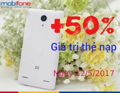 Khuyến mãi nạp tiền EZ Mobifone ngày 12/5/2017