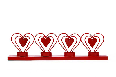 Four Red Heart Votive Holder_ INR 799