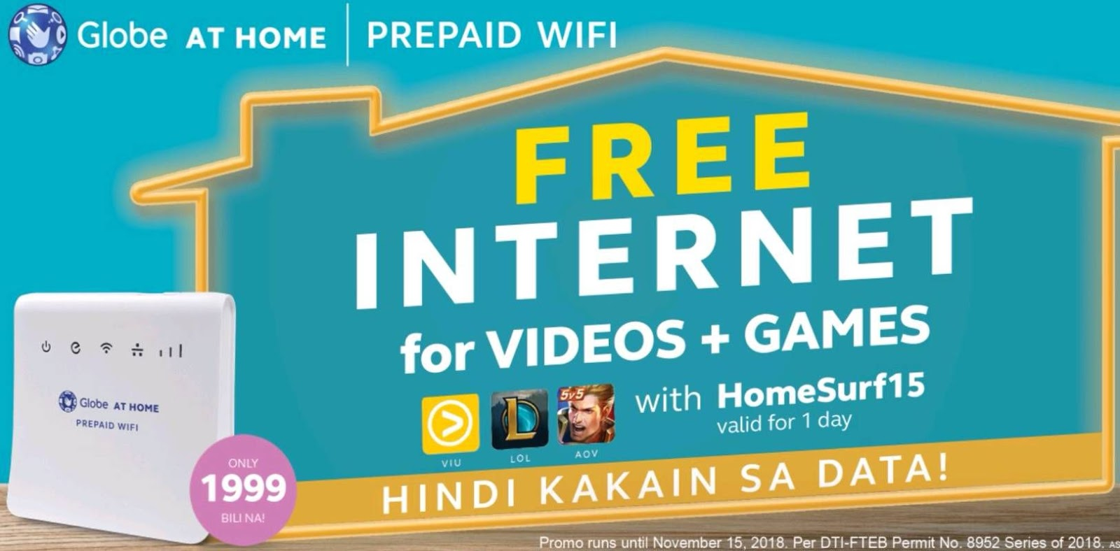 Globe At Home Prepaid Home WiFi Now With Free Access to AOV