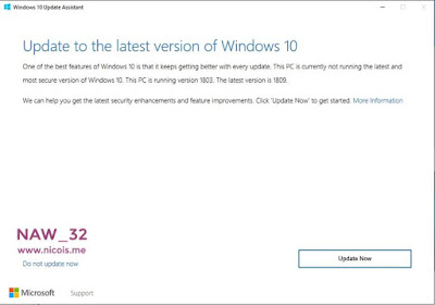 Cara Update Windows 10 ke Versi October 2018 (1809)