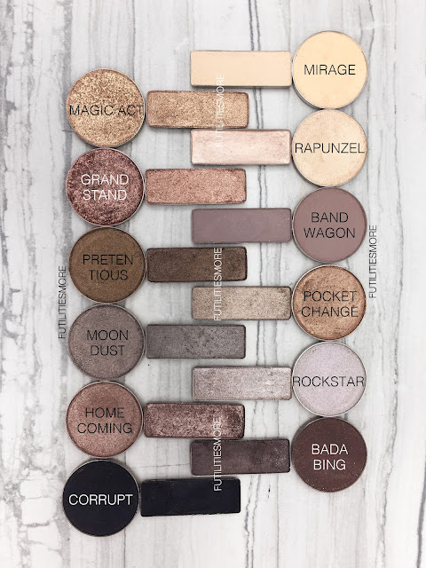 URBAN DECAY NAKED 2 PALETTE DUPES WITH MAKEUP GEEK EYESHADOWS , futilitiesmore, futilitiesandmore, futilities and more