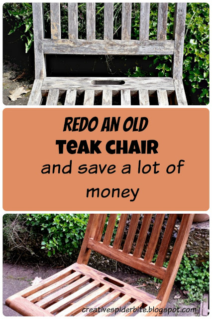 Redo an old teak wood chair and safe a lot of money and the environment