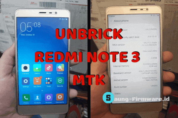[SOLVED] Redmi Note 3 MTK Matot Setelah Flash