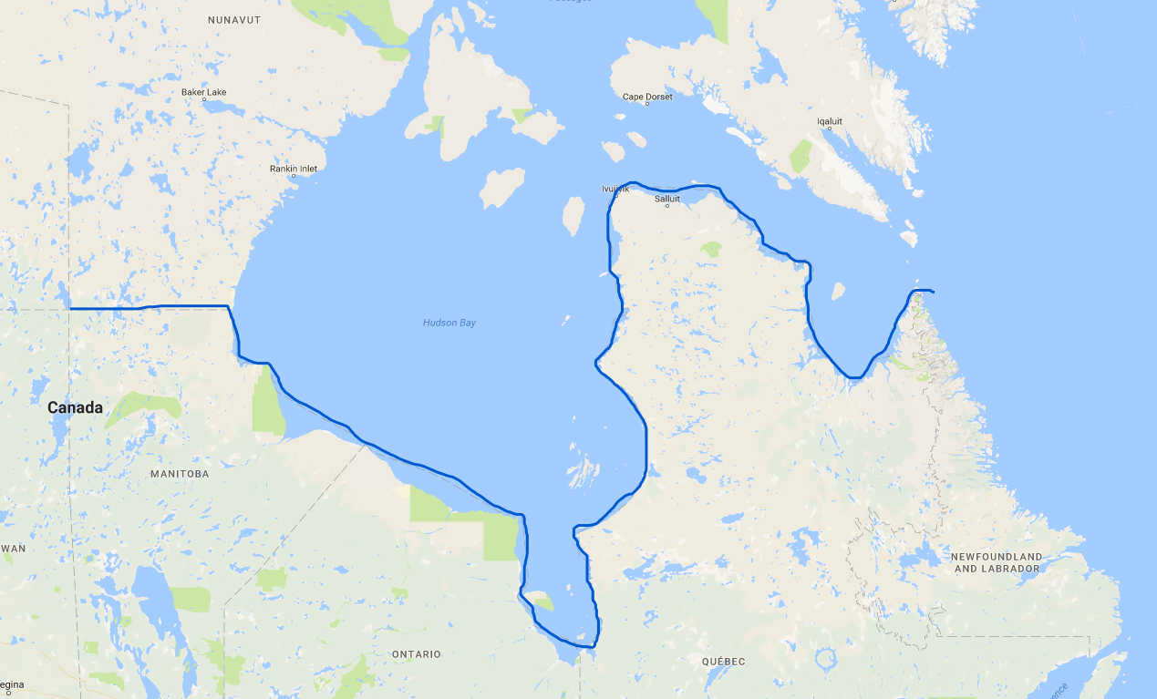 Map Of Canada James Bay.Lakewood S Wanderings And Scribbles Nunavut