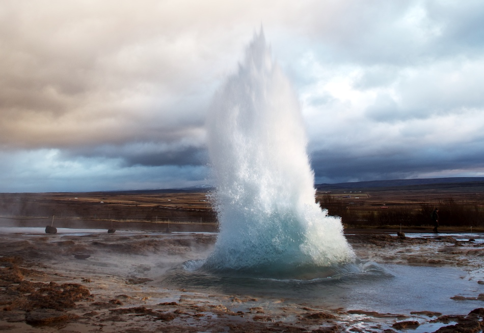 The Place Where Earth Meets the Sky: Strokkur Geyser, Iceland
