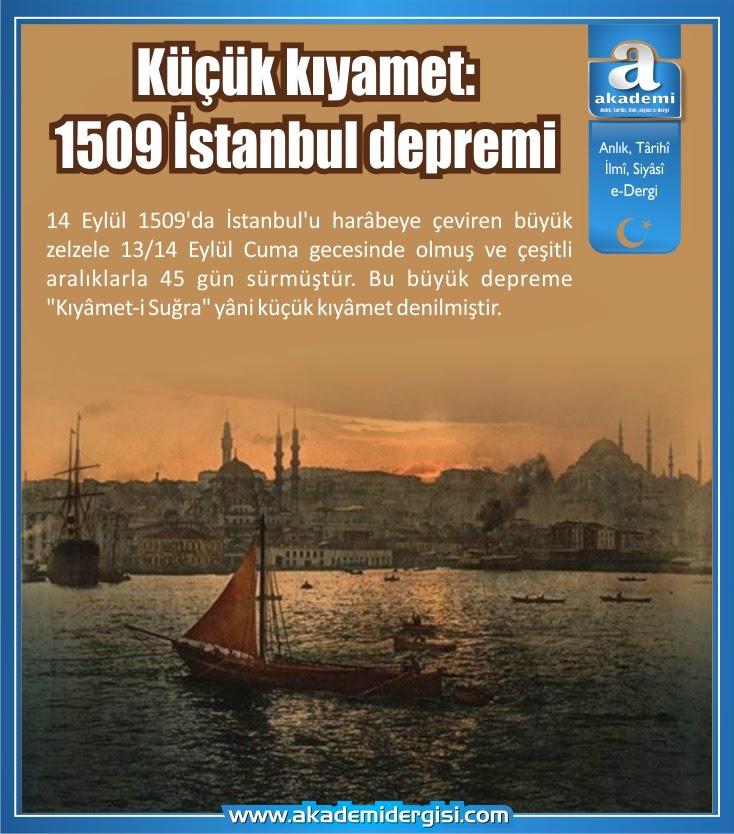 küçük kıyamet, kıyamet-i suğra, istanbul, depremler, osmanlı devleti, tsunami, osmanlı tarihi,