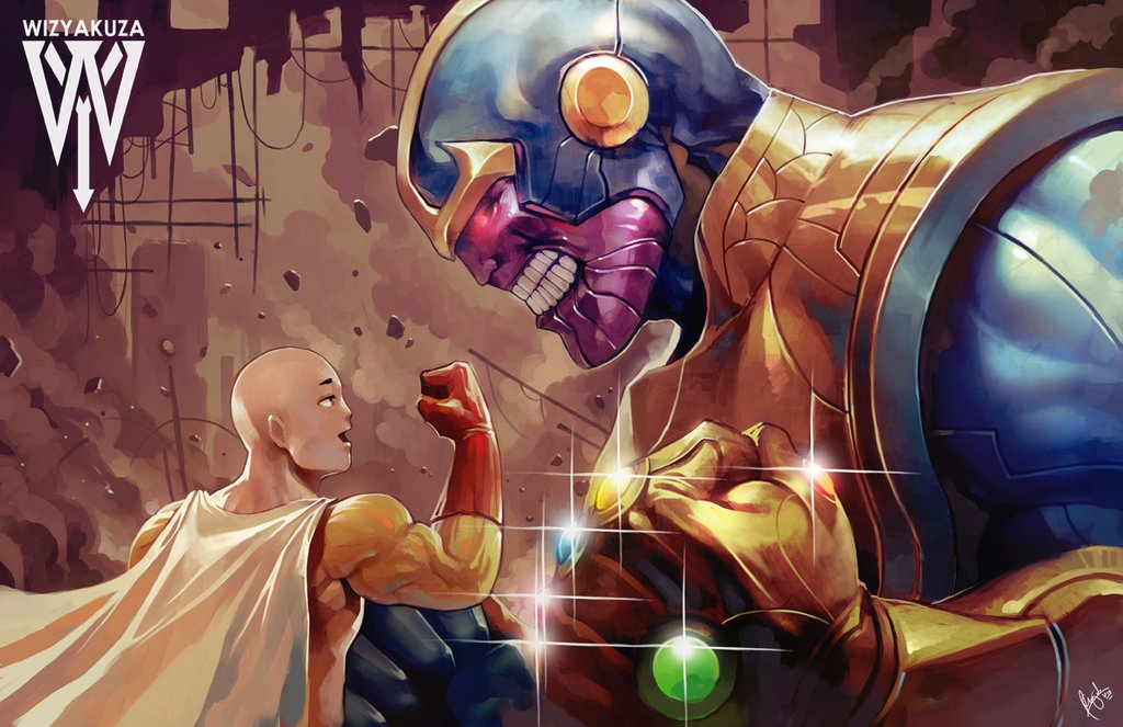 Saitama One Punch Man VS Thanos