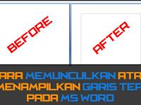 Cara Memunculkan Garis Tepi Margin pada MS Word