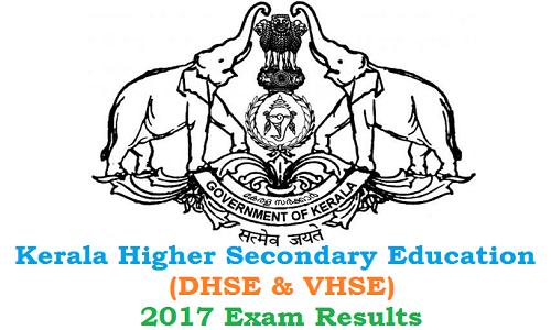 Kerala DHSE VHSE +2 Exam results 2017