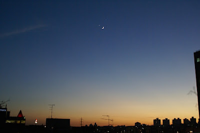 Moon, Venus and Jupiter conjunction