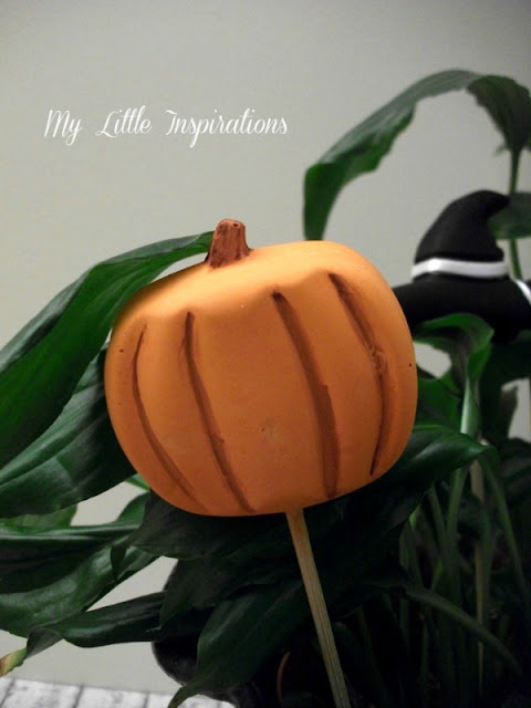 Decorazioni in gesso per Halloween - zucca - My Little Inspirations