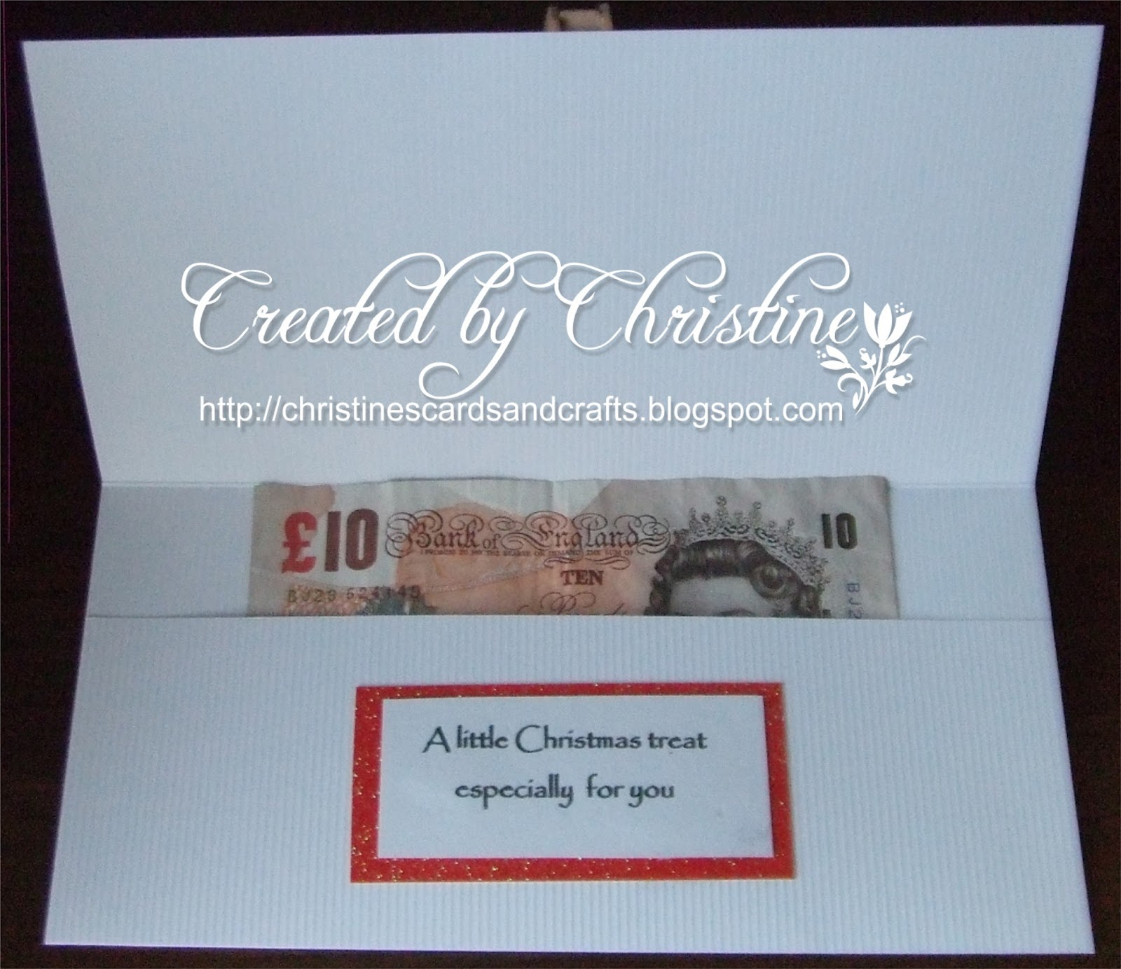 Christine\'s Cards and Crafts: Christmas Money Wallet