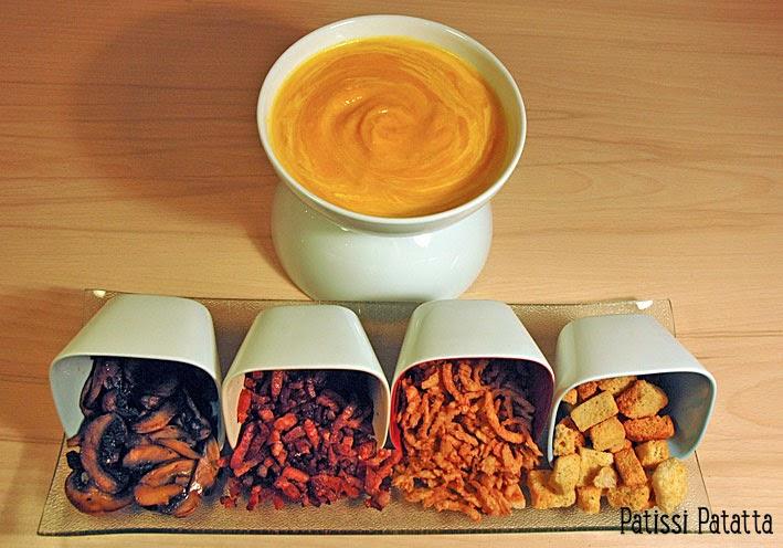 recette de velouté d'automne et ses accompagnements, recette de potage d'automne, french soup recipe
