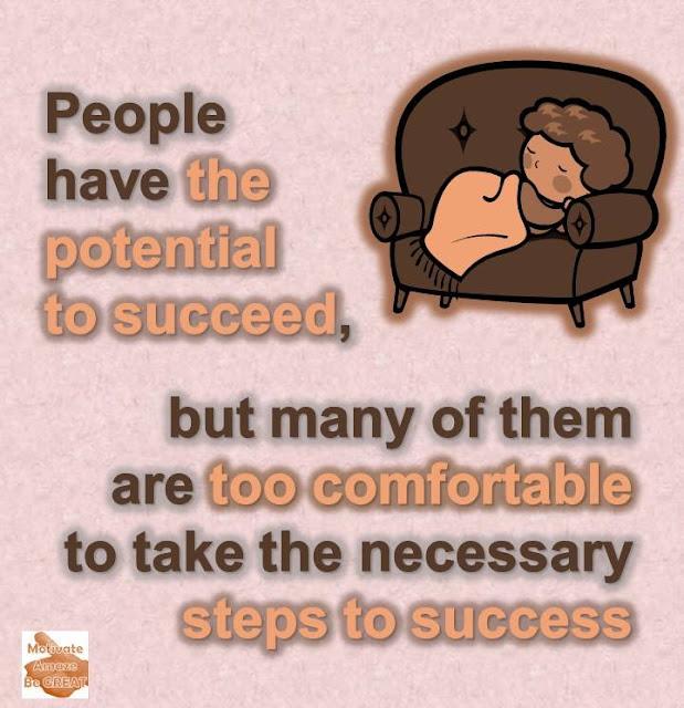 Comfort is Your Handicap To Reach Success, Personal Development, Self-Improvement, Motivation, Article, Comfort, Discomfort, Uncomfortable, Success.