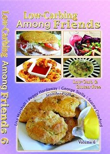 **NEW COIL BOUND (LILAC) VOL-6** OF LOW-CARBING AMONG FRIENDS COOKBOOKS Jennifer's Collection-4