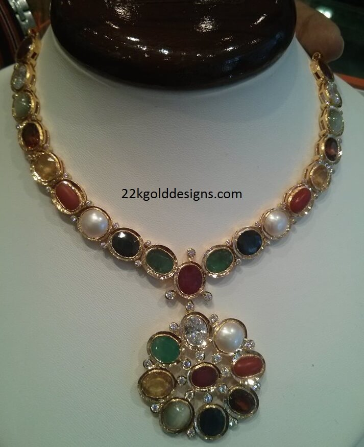 Traditional Navaratna Stones Necklace