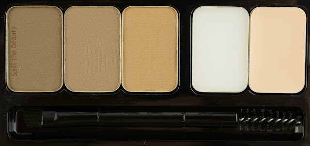 MAKE UP FOR EVER Pro Sculpting Brow Palette Harmony 1 review swatches 1