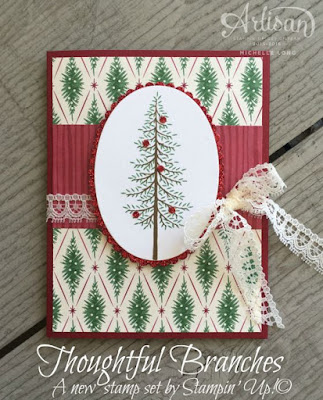 Thoughtful Branches Christmas Michelle Long Stampin Up Artisan Design Team