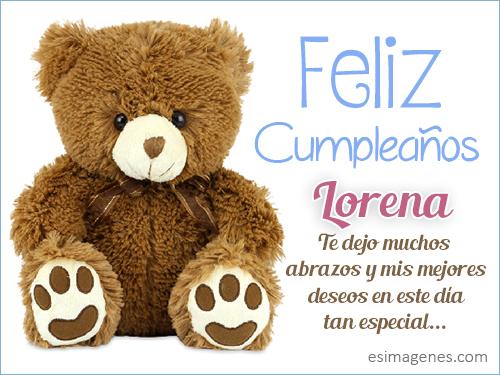 Feliz cumpleaños Lorena Tarjetas de Cumpleaños con Nombres