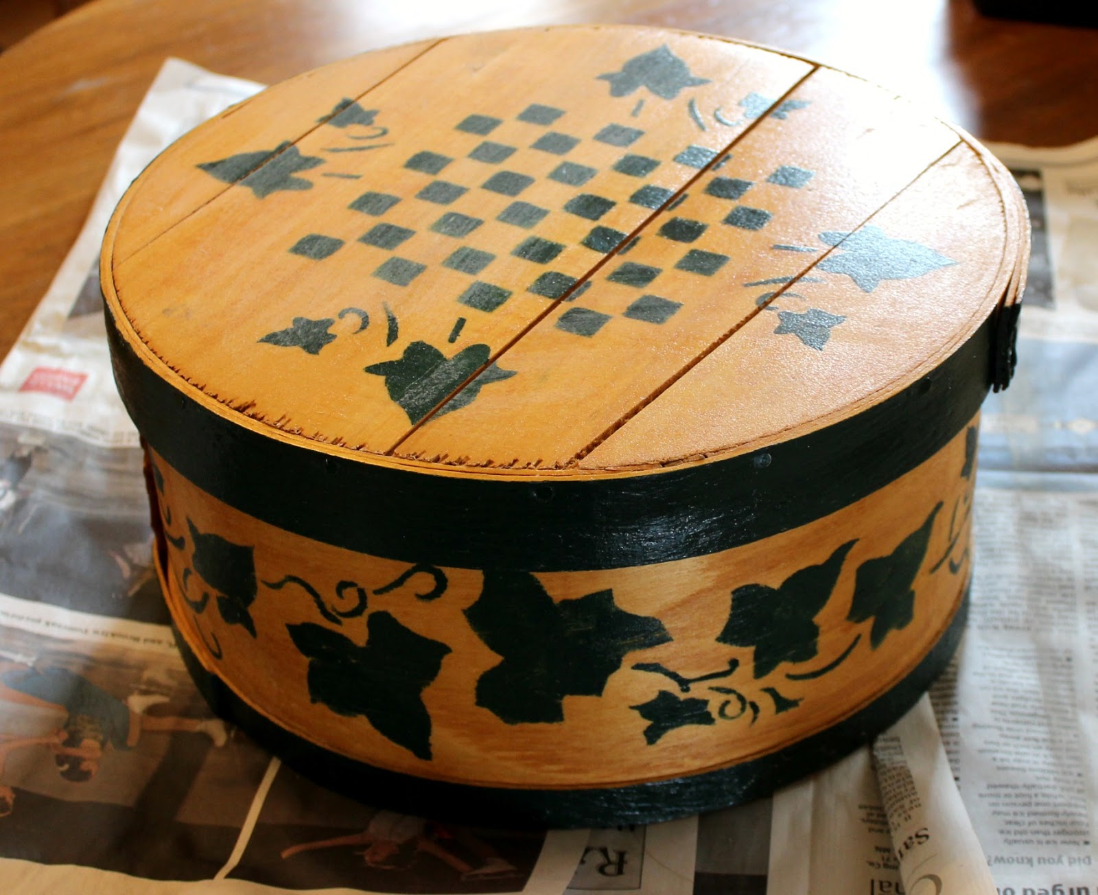 Diy Repurposed Cheese Box Becomes A Fun Coffee Themed Side Table