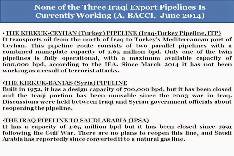 BACCI-None-of-the-ThreeIraqiExportPipelines-Is-Currently-Working-June-2014