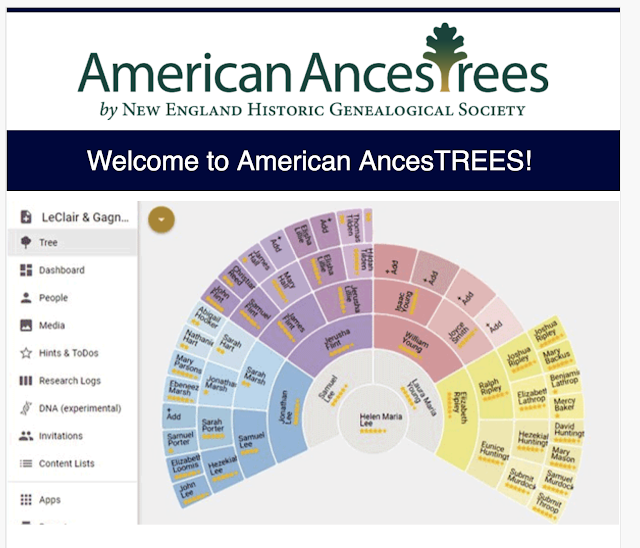 AmericanAncestors Introduces a Family Tree Program