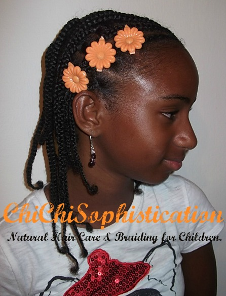 Natural Hair Style Summer Hair Style For Kids Cornrows Ponytails