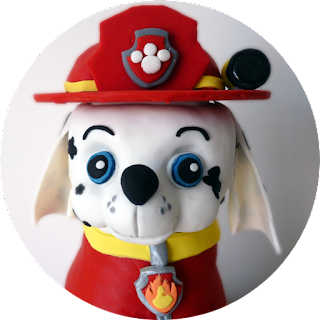 Marshall Paw Patrol Pup Birthday Cake Face