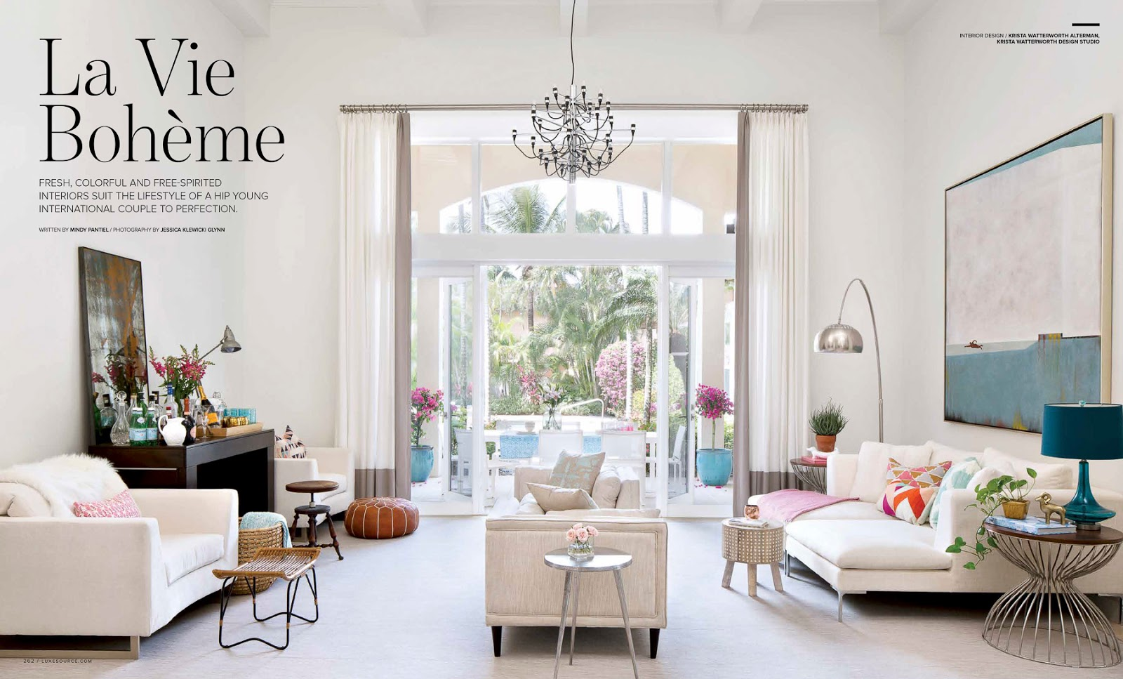 Interior Design By Krista Watterworth Check It Out In Luxe Palm Beach March April 2016 Issue On Newsstands Now