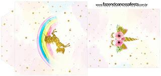 Bolsita de Té para imprimir gratis de Fiesta de Unicornios.