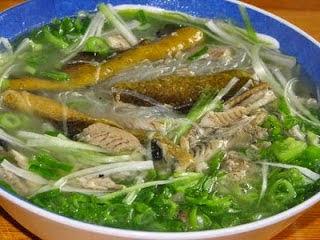 Làm món miến lươn