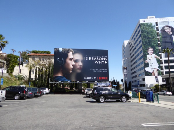13 Reasons Why TV series billboard