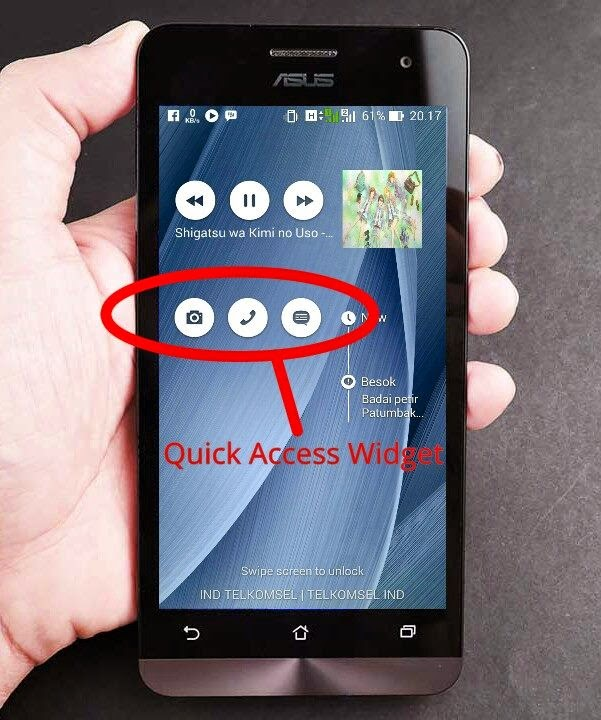 Quick Access Widget Asus Zenfone