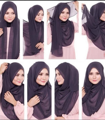 Cara Mudah Memakai Jilbab Pesta Simpel Modern