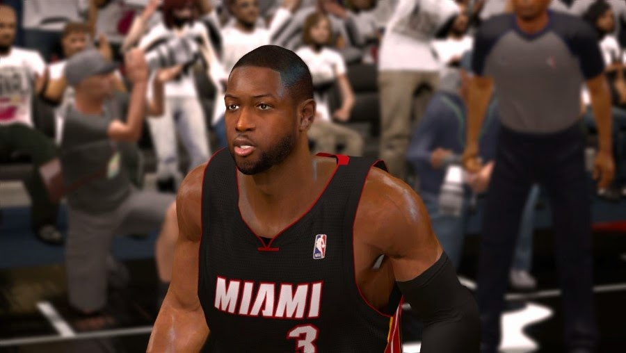 NBA 2K14 Dwyane Wade Cyberface Patch