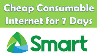 Smart, consumable internet, net, 7 days, 1 week, cheap, how to register