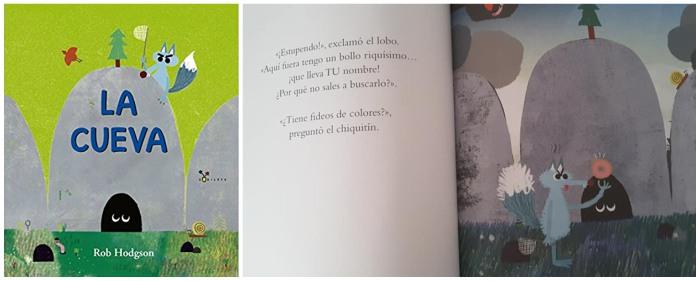 mejores cuentos infantiles 3 a 5 años, libros recomendados la cueva lobo rob hodgson