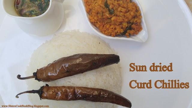 dahi mirchi recipe - sukhi dahi wali mirchi