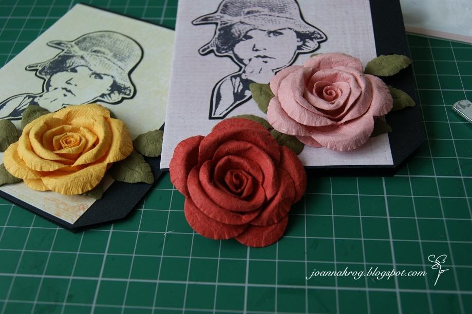 Днем рождения, открытки из бумаги розу