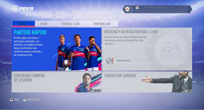 FIFA 14 FIFA 19 Official Graphic Menu Theme by DerArzt26