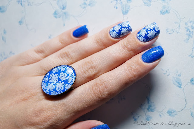 """Picture Polish """"Forget me not"""" и стемпинг Dana stamping plate 2"""